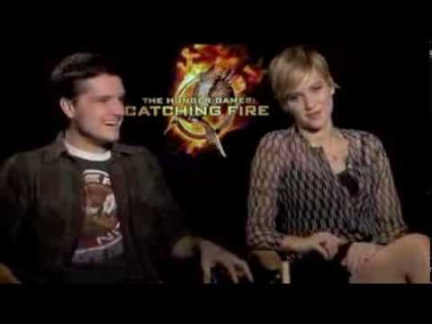 Josh Hutcherson and Jennifer Lawrence  Funny talk