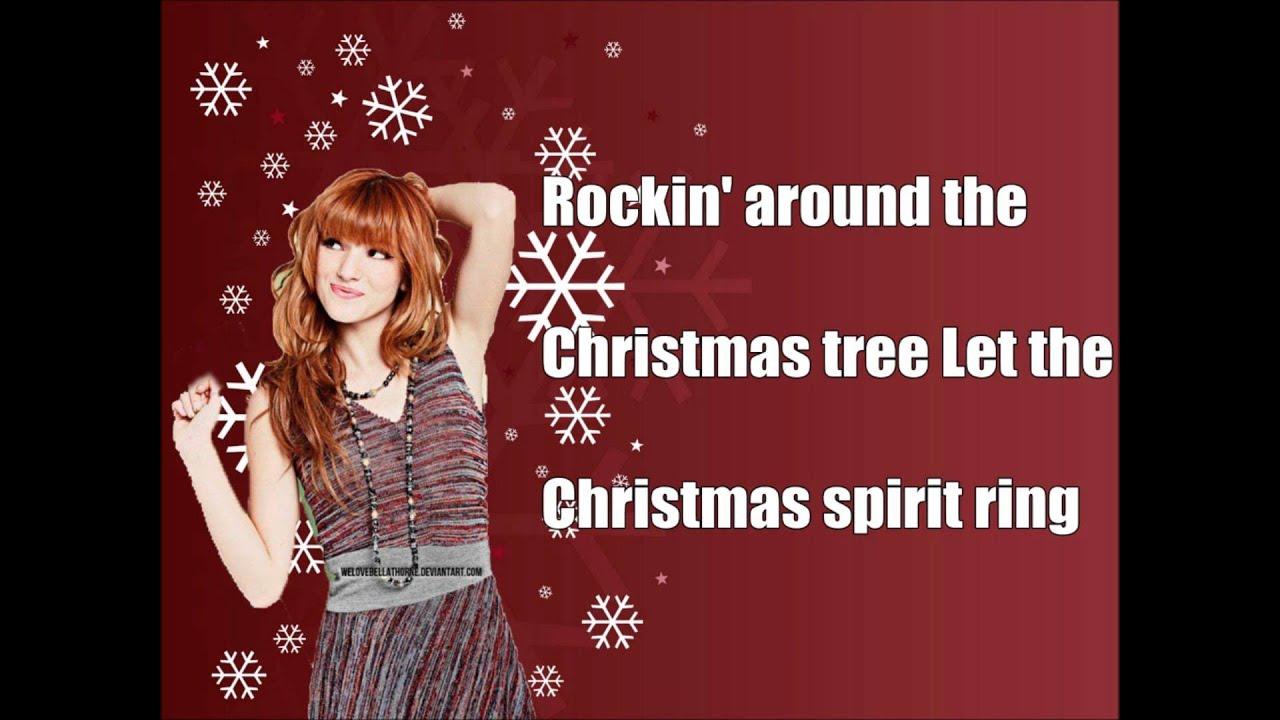 Bella Thorne- Rockin' Around The Christmas Tree (Lyrics) - YouTube