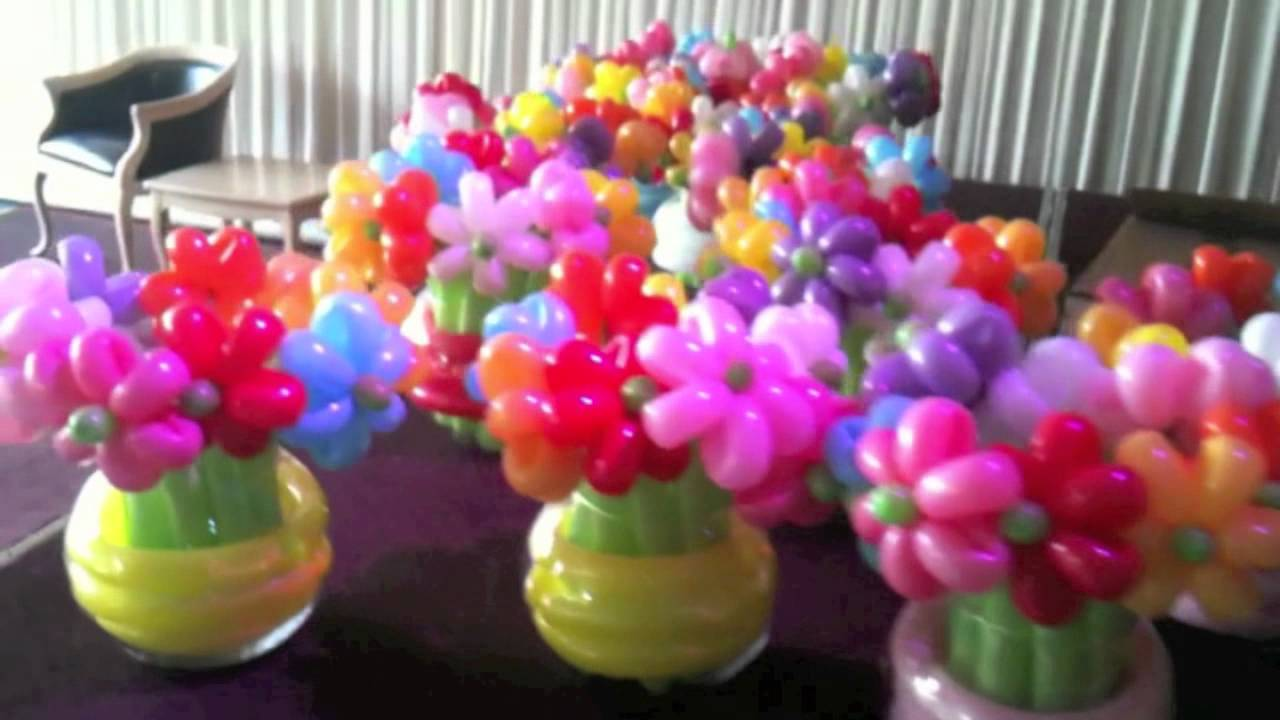 flowers in a balloon