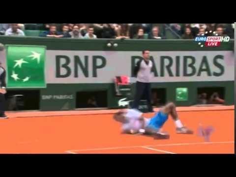 Gael Monfils Palomita Roland Garros 2014