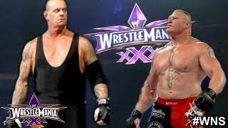 WWE WrestleMania 30: The Undertaker vs Brock Lesnar - WWE WrestleMania 30 Match Card Predictions