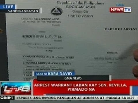 NTVL: Arrest warrant vs. Sen. Bong Revilla, pirmado na