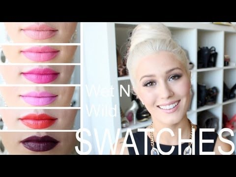 WET N WILD Lipstick Swatch and Review