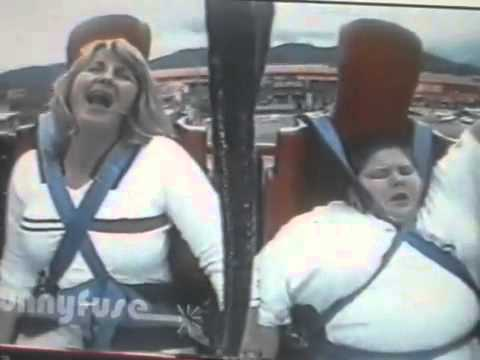 Funny Video Fat Kid Falling Off Roller Coaster