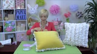 DIY Ribbon Ruffle Pillows
