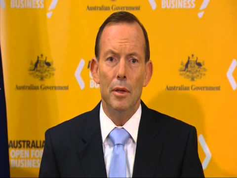Prime Minister Tony Abbott Australia Week in China