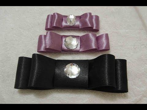 Como fazer 3 tipos diferentes de lacinhos - Lacinho Chanel (Parte 1)
