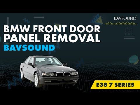 Bmw E38 7 Series Front Door Panel Removal Youtube