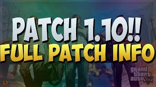 GTA 5 ONLINE UPDATE 1.10 PATCH (INFO) - GTA V MONEY GLITCH (PATCHED) GTA V MULTIPLAYER (PATCH NOTES)