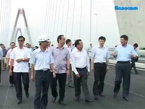 Bí thư Thành ủy Hà Nội kiểm tra dự án cầu Nhật Tân