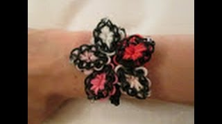 Rainbow Loom- How To Make A Quilted Hibiscus Bracelet