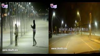 خطـــير و بالفيديو..عاصفة رملية بمدينة مارتيل و الناس كيهربو |