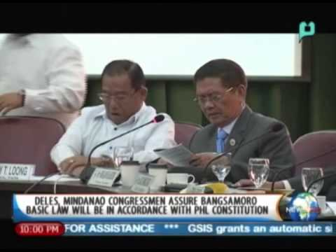 Deles, Mindanao congressmen assure Bangsamoro Basic Law will be in accordance w/ PHL consti.