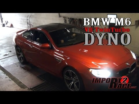 BMW M6 V8 twinTurbo dyno tested