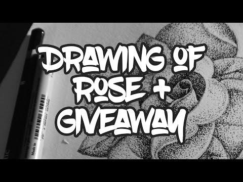 Кумановскиот уметник Небојша Спасиќ нацрта прекрасна роза која сака да му ја подари на некој од вас