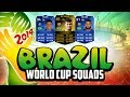 POTENTIAL WORLD CUP 2014 SQUADS - BRAZIL! w/ IF NEYMAR! | FIFA 14 Ultimate Team