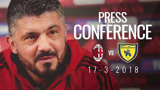 Gattuso's press conference on the eve of AC Milan v Chievo - Serie A 2017/18