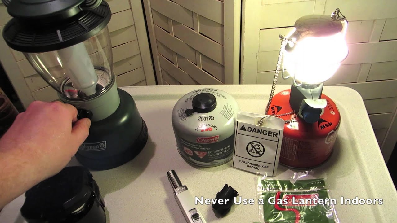 Coleman Lanterns Gas Vs Led Youtube