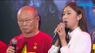 Cô gái Hàn hát cho ông Park Hang-seo nghe trong buổi giao lưu U23 Việt Nam là ai?
