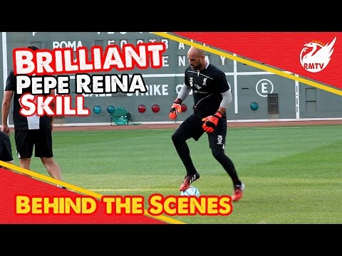 Pepe Reina Awesome Skills On Jose Enrique | LFC Tour Behind The Scenes