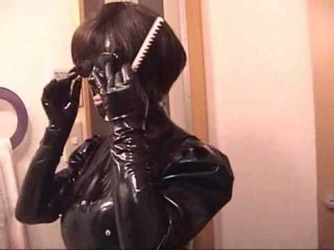 rubber dress rubber mask