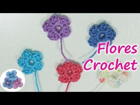 Diy como hacer flores de crochet how to crochet a flower - Como hacer flores de ganchillo ...