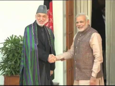 Indian PM Modi Meets Afghan President Karzai To Bolster Ties