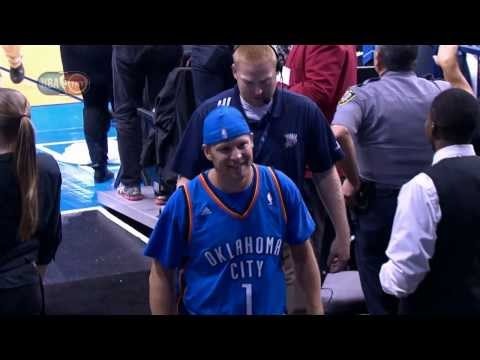 Thunder Fan Hits Halfcourt Shot for $20,000 and Meets Jay-Z