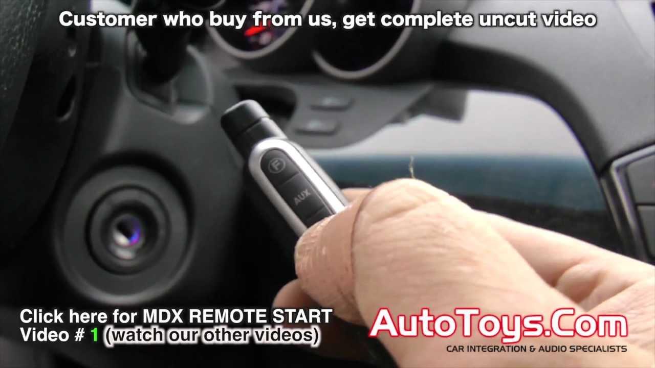 acura mdx remote start