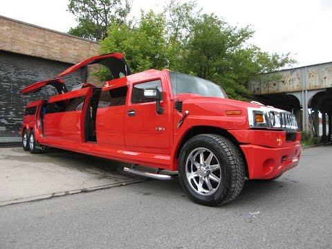 Red H2 Hummer limo limousine w/ JET DOOR  - www.ROYALUXURY.com