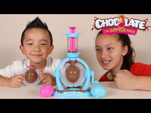 Chocolate Surprise Egg Maker DIY Kinder Surprise Egg Fun With Ckn Toys