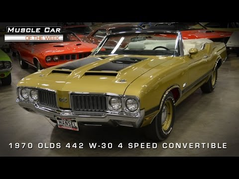 Muscle Car Of The Week Video #54: 1970 Oldsmobile 442 W-30 4-Speed Con