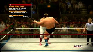 WWE 2K14: 30 Years Of Wrestlemania Match 1 Andre Vs