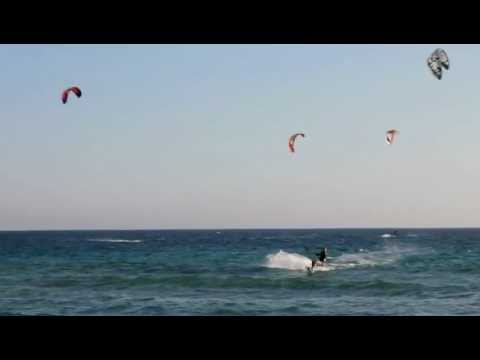 kite-surfing Halikounas beach Corfu 2012
