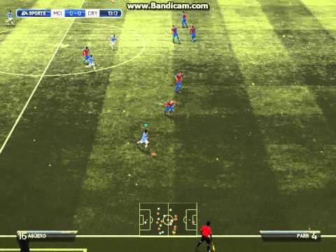 Manchester City  1-0 Crystal Palace 28/12/2013 Goal Dzeko E. [gameplay]