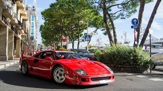 CRAZY Ferrari F40 start-up & HUGE accelerations !!