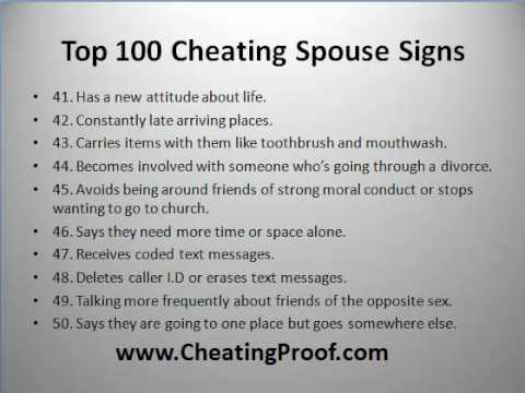 Physical signs of a cheating wife