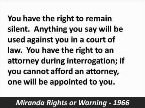 Miranda rights summary