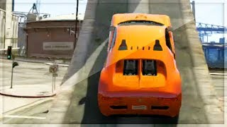GTA 5 Funny Moments - Massive Ramps In Los Santos - (GTA V Online Games Stunts)