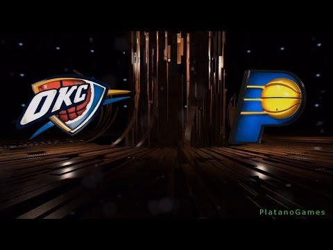 NBA Oklahoma City Thunder vs Indiana Pacers - 1st Qrt - NBA Live 14 PS4 - HD