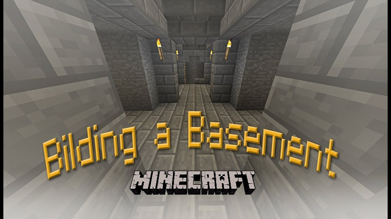 hard core minecraft how to build a basement and mineshaft for your