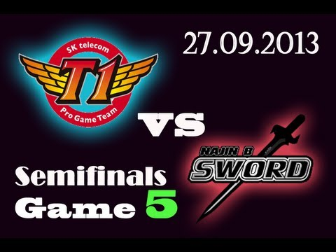 SKTT1 vs NJS | SK Telecom T1 vs NaJin Black Sword Game 5 | SemiFinals D1 G5 | Worlds 2013 S3 VOD