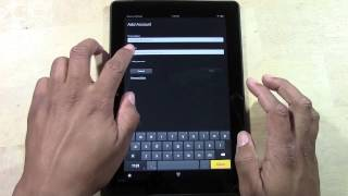 Kindle Fire HDX (8.9) How To Add An Email Account (Gmail