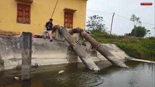 Trải nghiệm câu cá sông bằng cần câu lục   Treble hook fishing