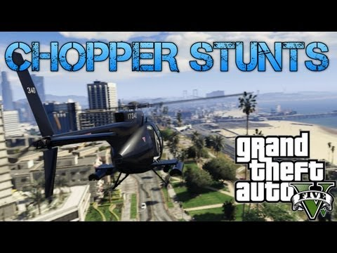 Grand Theft Auto V Challenges | ATTACK CHOPPER STUNTS & GHOST EASTER EGG | PS3 HD Gameplay