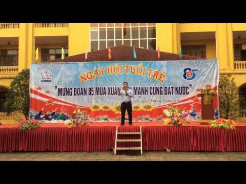 Thầy Nguyễn Thành Nhân -  Giảng bài tại trường THPT Nhã Nam, huyện Tân Yên, tỉnh Bắc Giang