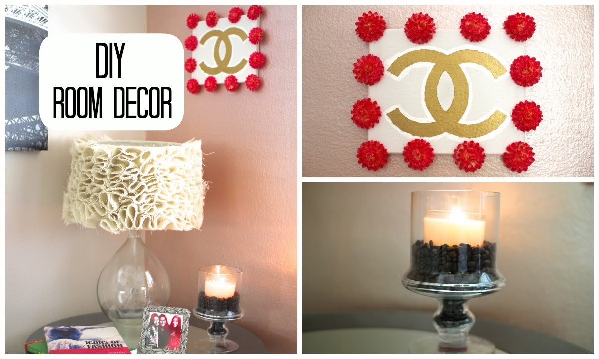Diy room decor cute simple youtube for Cute easy diy bedroom ideas