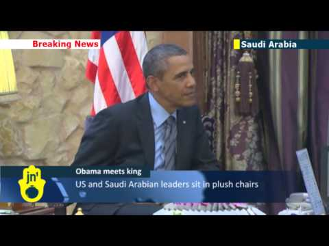 Obama Meets King Abdullah: US president lands in Riyadh for talks
