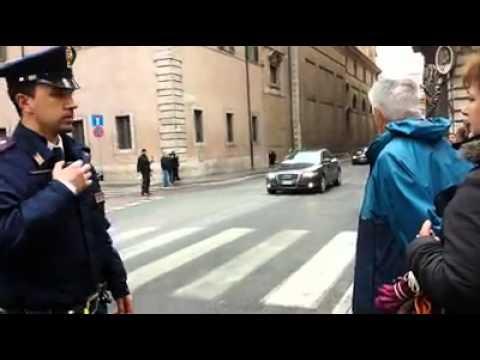 L'arrivo di Obama a Roma