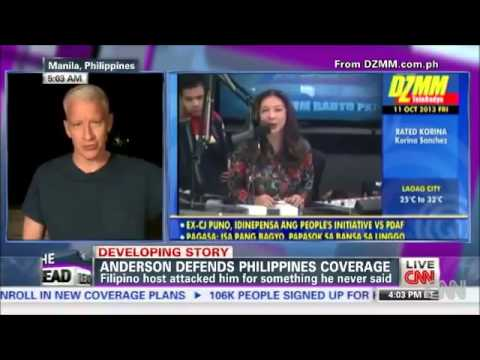KORINA SANCHEZ REACT ON ANDERSON COOPER REPORT TYPHOON YOLANDA